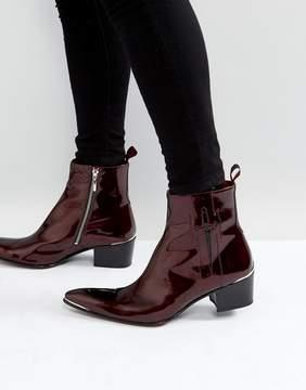 Jeffery West Sylvian Zip Boots In Red