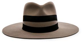 Janessa Leone Un Fedora Hat in Neutrals.