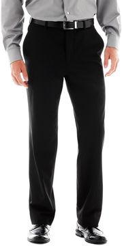 Jf J.Ferrar Men's JF Stretch Gabardine Flat-Front Straight-Leg Classic Fit Suit Pants
