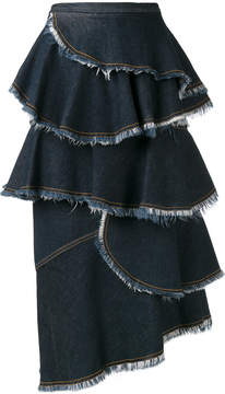 Antonio Marras layered denim skirt