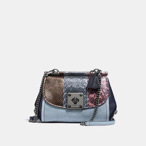 COACH Coach Drifter Crossbody In Striped Mixed Snakeskin - DARK GUNMETAL/SNAKE MULTI - STYLE