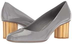 Salvatore Ferragamo Patent Leather Mid-Heel Pump High Heels