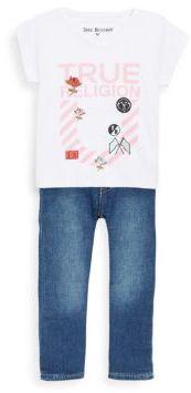 True Religion Baby's Stripe Horseshoe Tee & Jeans Set