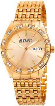 August Steiner Womens Gold Tone Strap Watch-As-8177yg