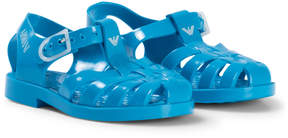 Armani Junior Turquoise Logo Rubber Jelly Shoes