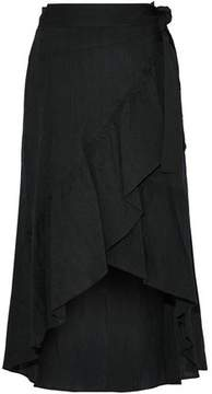 A.L.C. Ruffled Embroidered Voile Wrap Skirt