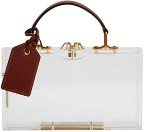 Charlotte Olympia Brown Plastic Clutch Bag