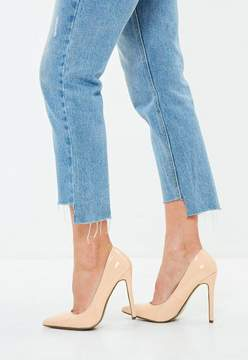 Missguided Nude Pointed Toe Pumps