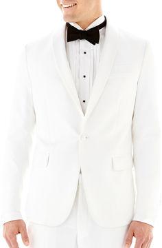 JCPenney THE SAVILE ROW CO The Savile Row Company White Tuxedo Jacket - Slim-Fit