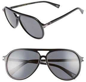 Marc Jacobs Women's 58Mm Navigator Sunglasses - Black/ Ruthenium