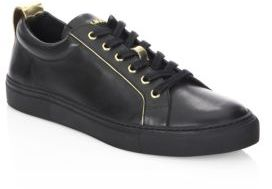 Balmain Perforated Leather Low-Top Sneakers