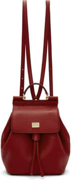 Dolce & Gabbana Red Small Sicily Backpack