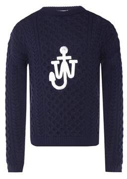 J.W.Anderson Men's Blue Cotton Sweater.