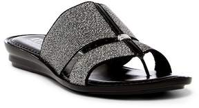 Italian Shoemakers Metallic Thong Sandal