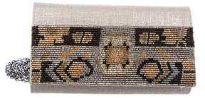 Judith Leiber Woven Embellished Clutch