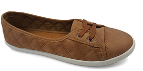 Refresh Camel Quilted Malibu Sneaker