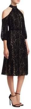 Alice + Olivia Ruthann Cold-Shoulder Dress