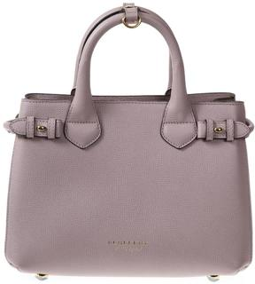 Burberry House Check Leather Bag - ORCHID - STYLE