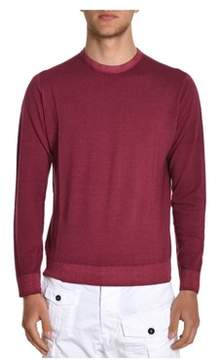 H953 Men's Burgundy Wool Sweater.