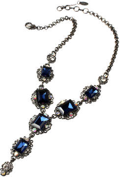 Amrita Singh Blue Austrian Crystal & Gunmetal Katherine Bib Necklace