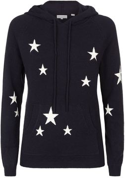 Chinti and Parker All-Over Star Cashmere Hoodie