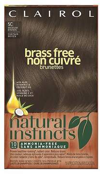 Clairol Natural Instincts Brass Free Semi-Permanent Hair Color 5C Medium Brown