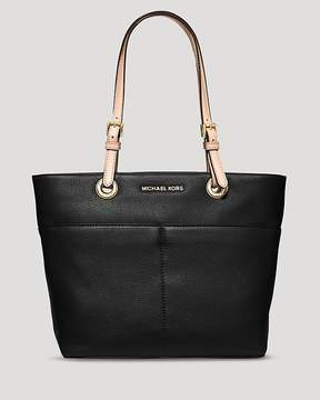 MICHAEL Michael Kors Soft Venus Leather Tote - BLACK/GOLD - STYLE