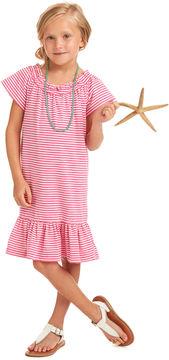 Vineyard Vines Girls Striped Knit Ruffle Dress