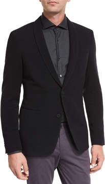 BOSS Ottoman Jersey Shawl-Collar Blazer, Black