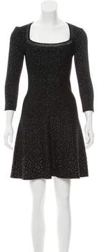 Antonio Berardi Leopard Jacquard Mini Dress