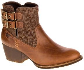 CAT Footwear Brown Sugar Willa Tweed Leather Ankle Boot