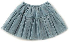 Edgehill Collection Little Girls 2T-6X Dotted Ruffled Skirt