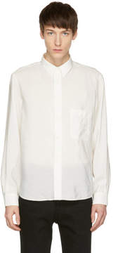 Lemaire White One-Pocket Shirt