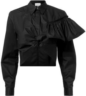 3.1 Phillip Lim Flamenco Twisted Ruffle Crop Top