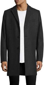 J. Lindeberg Men's Wolger Melton Wool Coat
