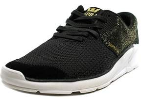 Supra Noiz Youth Round Toe Leather Black Skate Shoe.