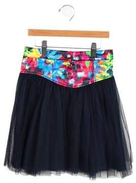 Junior Gaultier Girls' Tie-Dye Tulle Skirt w/ Tags