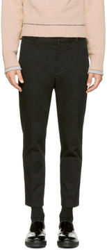 3.1 Phillip Lim Black Cropped Saddle Trousers