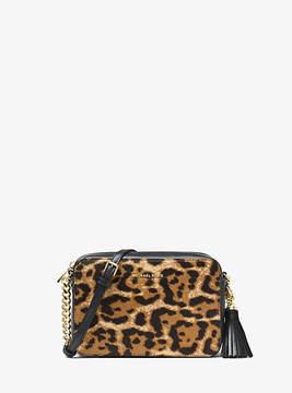 Michael Kors Ginny Leopard Calf Hair Crossbody - BROWN - STYLE