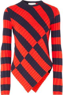 Altuzarra Mullins Striped Stretch-knit Top - Red