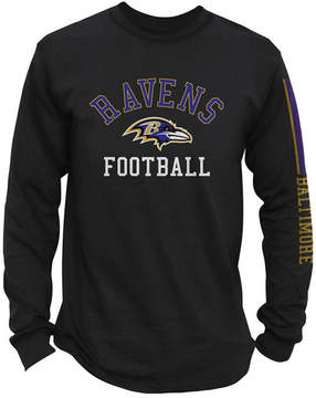 Authentic Nfl Apparel Men's Baltimore Ravens Spread Formation Long Sleeve T-Shirt