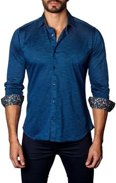 Jared Lang Men's Solid Cotton Sportshirt