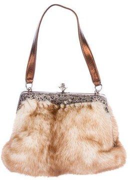 Rene Caovilla Fur Evening Bag