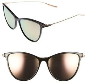 Salt Women's Nia 58Mm Polarized Cat Eye Sunglasses - Black/ Honey/ Rose Mirror