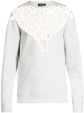 Burberry Lace-insert jersey sweatshirt