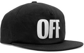 Off-White Appliquéd Cotton-twill Baseball Cap - Black