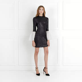 Rachel Zoe Wes Bell-Sleeve Fluid Sequin Dress