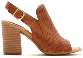 Børn Sutra Perforated Leather Block Heel Sandal