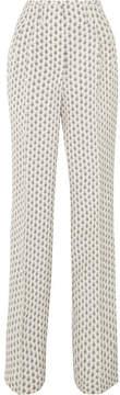 Etro Printed Silk Crepe De Chine Wide-leg Pants - Ivory
