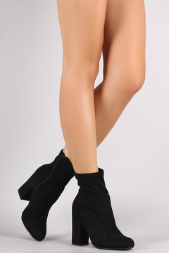 Bamboo Black Suede Booties